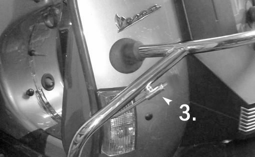 how to drill hole for handle bar end mirror