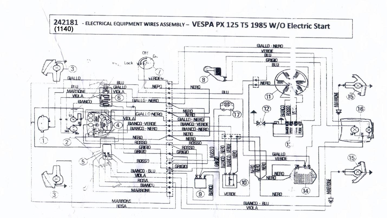 Vespa Px Electric Start Wiring Diagram